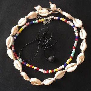 Jewelry - 💐NEW  3 VSCO boho style chokers cowrie shell